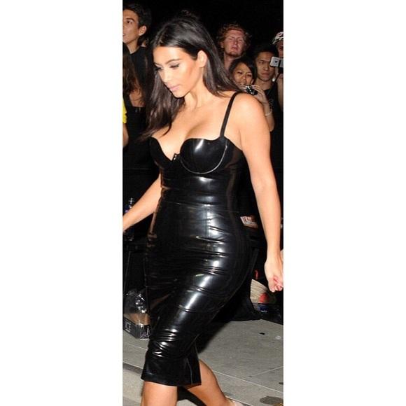 Kardashian Kollection Dresses Kim Kardashian Latex Style Dress
